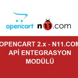 N11 Opencart Entegrasyon Modülü 1